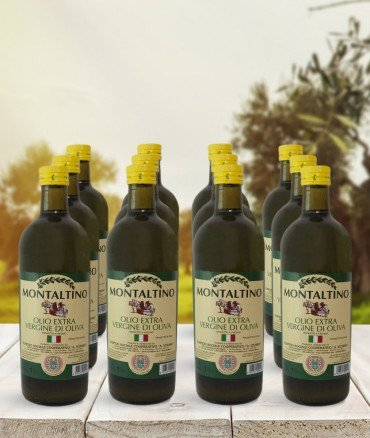 Olio EVO 1litro bottiglia 12 pezzi