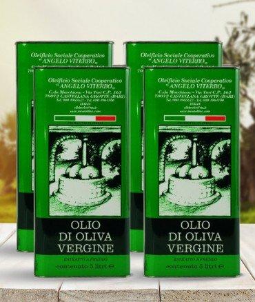 Olio vergine 5 litri 4 pezzi