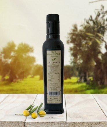 olio biologico 025 retro bottiglia