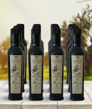 olio biologico 025 12 bottiglie