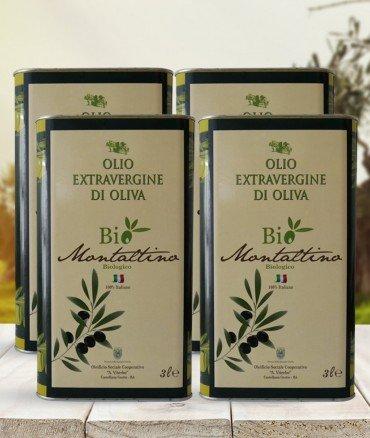 olio biologico EVO 3 litri